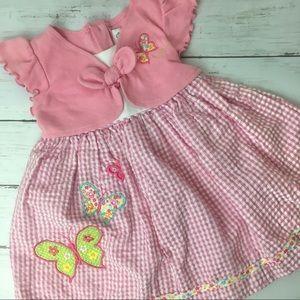 Butterfly Dress w/ faux cardigan